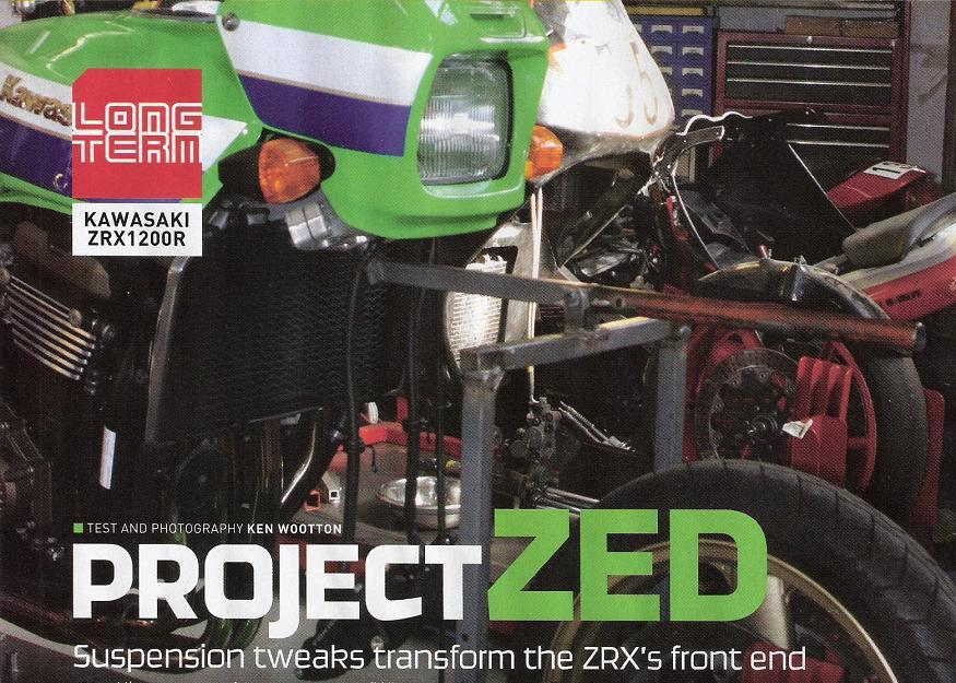 PROJECT ZED Kawasaki ZXR1200R - the  results of suspension modifications